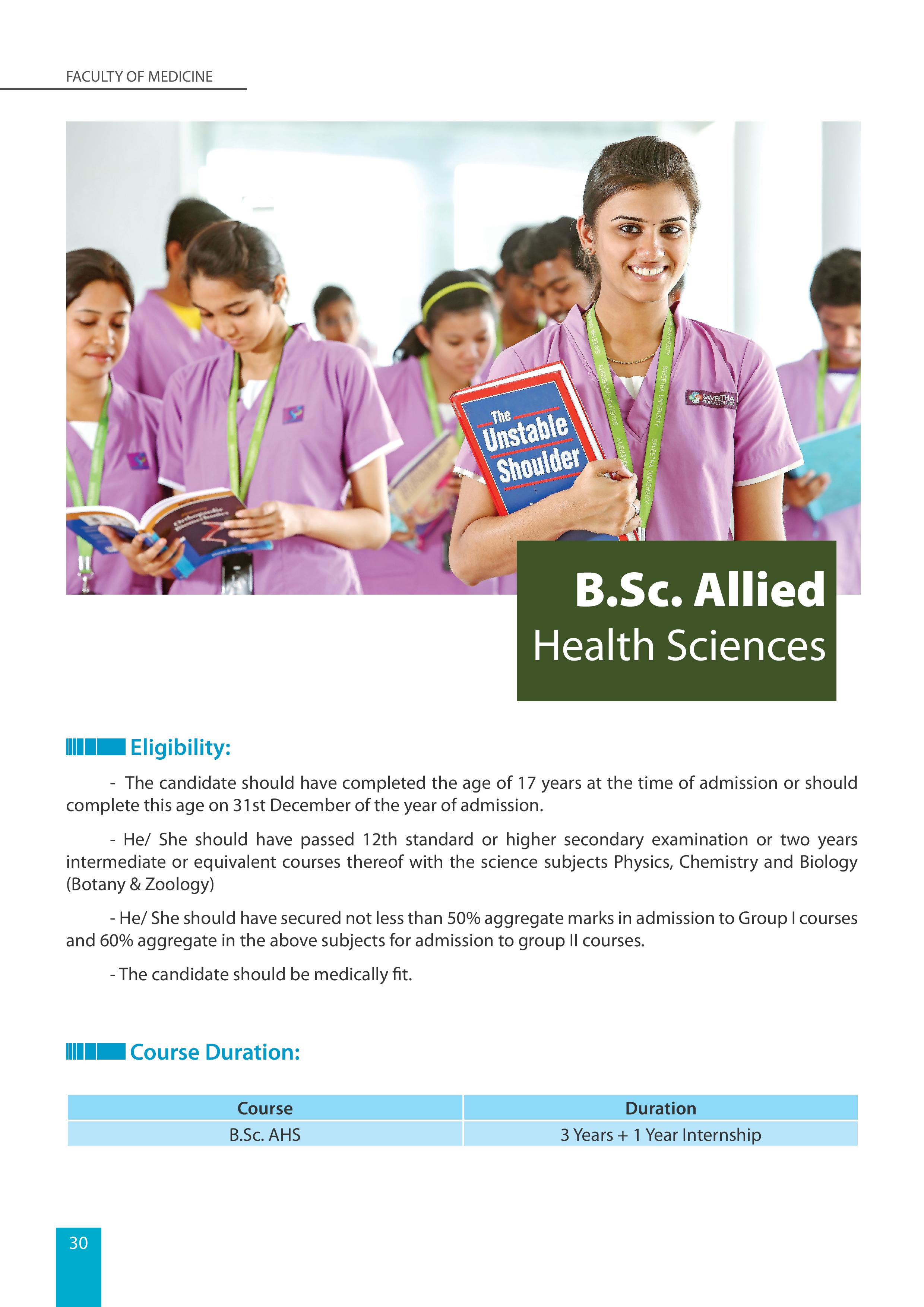 BSc Allied health Sciences page 001