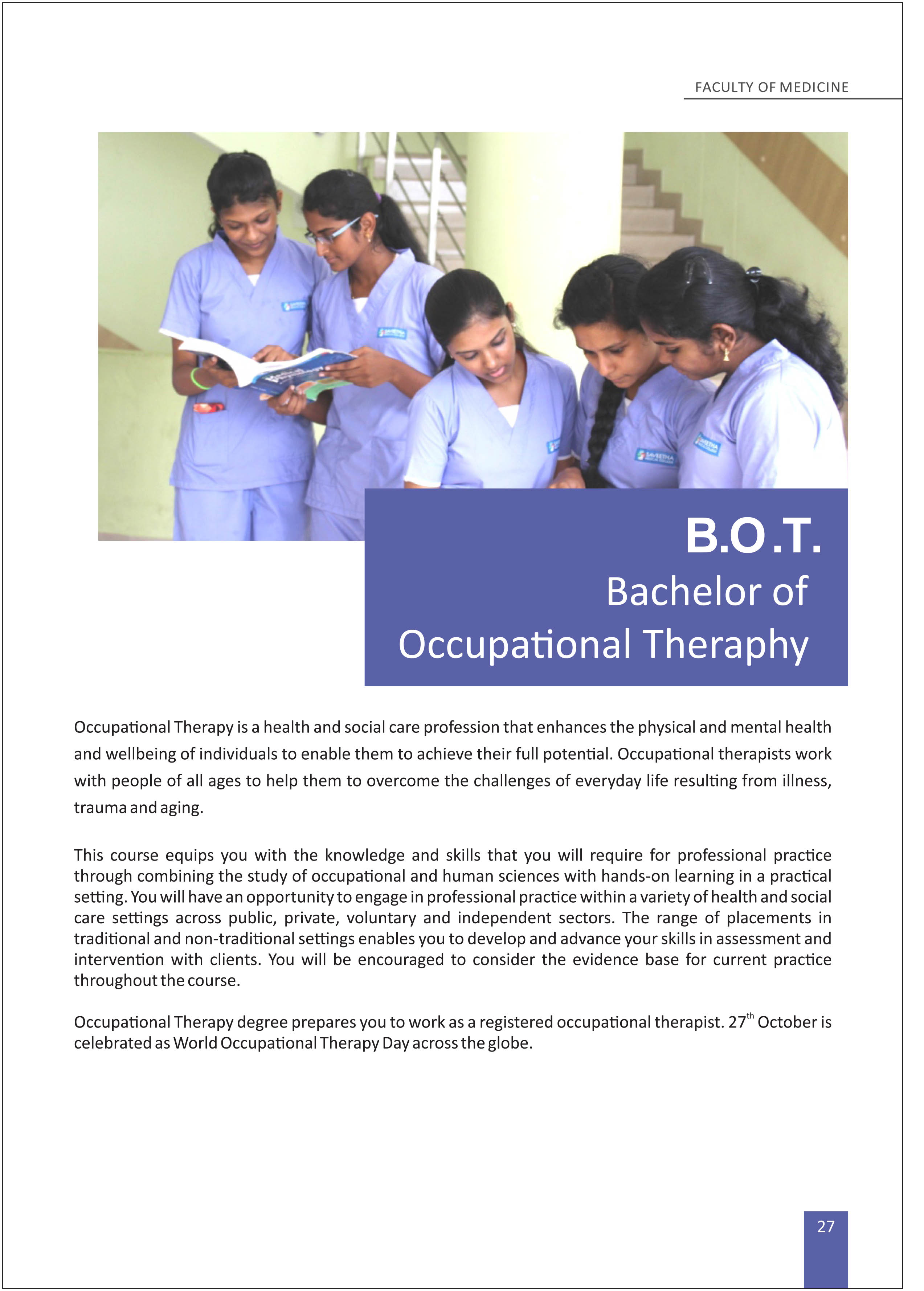 B O T Occupational Theraphy 1