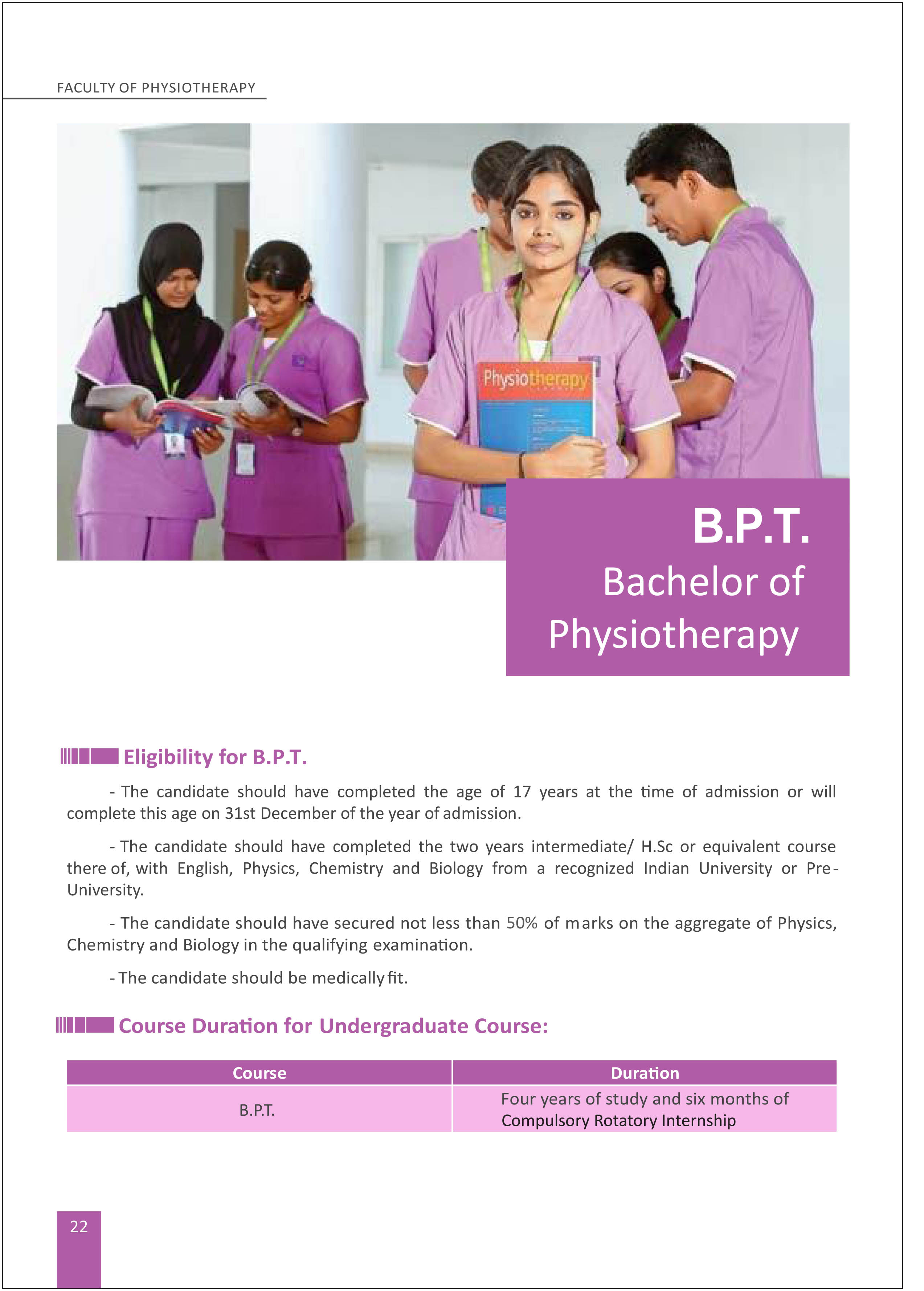 B P T Physiotherapy 1