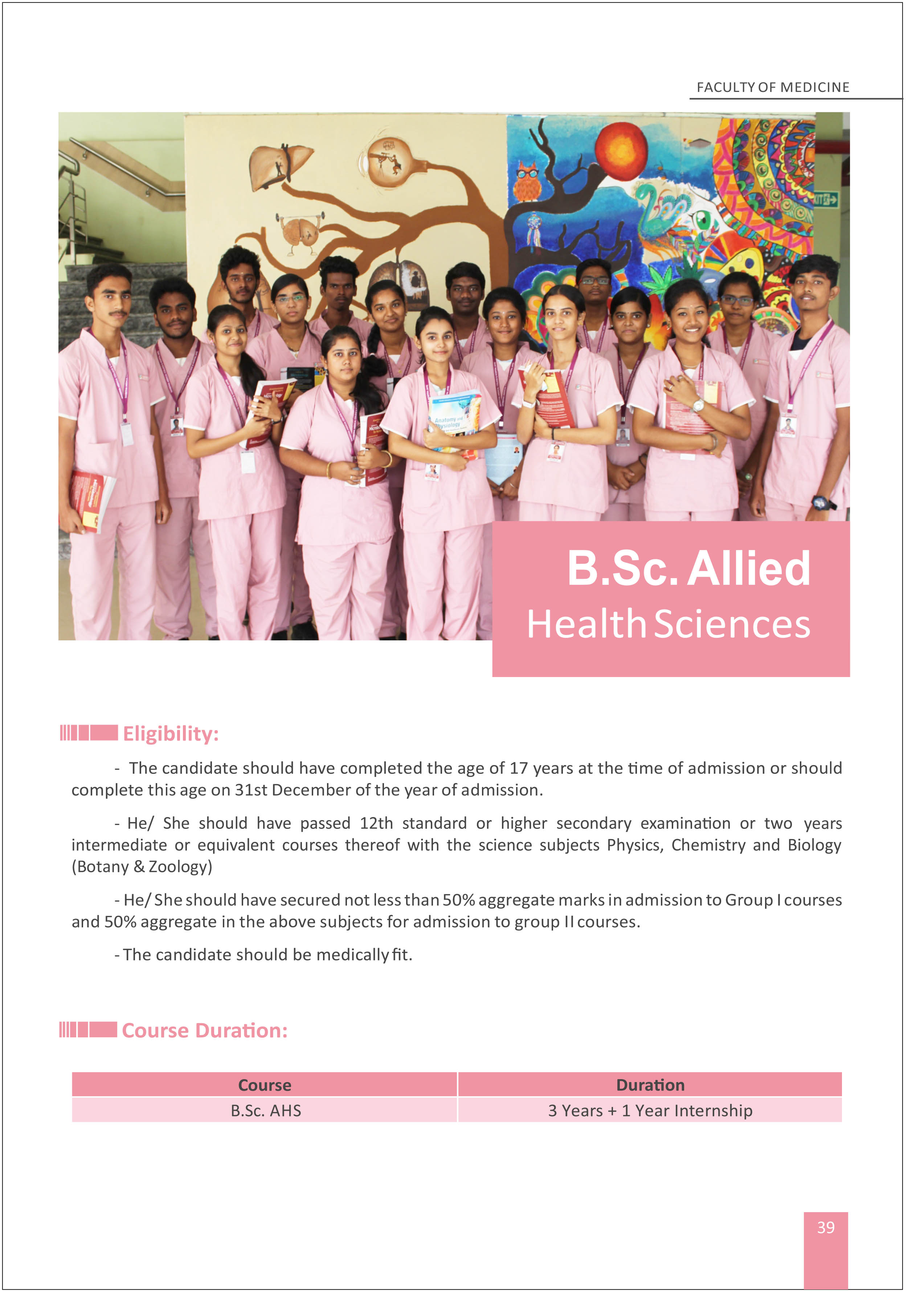 B Sc Allied health Sciences 1